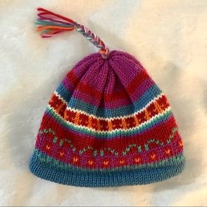 Other - Knit Beanie with Braid and Tassel (Winter Hat/Cap)